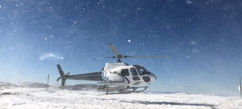 Fall Creek Helicopter Snow