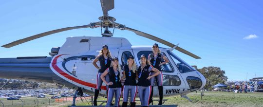 Travelling in groups by helicopter